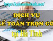 Dịch vụ kế toán trọn gói tại Hà Tĩnh