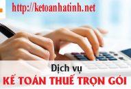 Dịch vụ kế toán trọn gói tốt nhất tại Hà Tĩnh