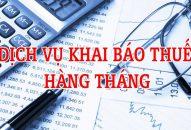 Dịch vụ kê khai thuế hàng tháng tại Hà Tĩnh