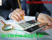 Dịch vụ kế toán nội bộ tại Hà Tĩnh
