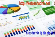 Hồ sơ cho việc lập báo cáo tài chính