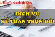 Kế toán trọn gói giá rẻ tại Hà Tĩnh